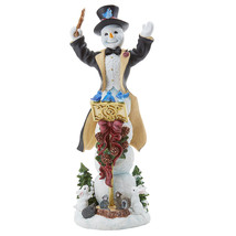 Lenox 2018 Pencil Snowman Figurine Annual Snowy Maestro Orchestra Christmas NEW - $100.49
