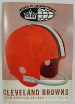 Cleveland Browns 1965 Press Book Media Guide World Champions - $107.03