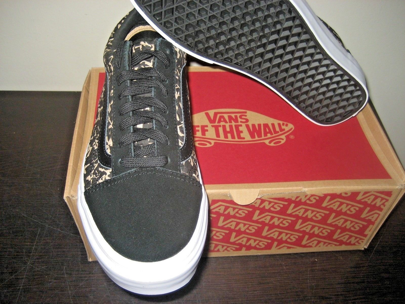 f2a1d016ac ... Vans Mens Old Skool DX Woven Textile Multi Black Suede Skate shoes Size  8 NWT