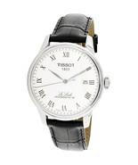 Tissot Men's Le Locle T006.407.16.033.00 Silver Leather Quartz Dress Watch - $920.00