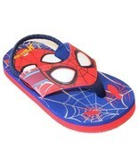 SPIDER-MAN Light-Up Flip Flops Beach Sandals w/Lights NWT Sz. 9-10 11-12... - ₹1,031.57 INR