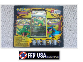 Pokemon Dragon Vault Blister Pack Rayquaza Promo, 3 Booster Packs Pokemo... - $31.99