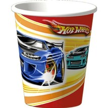 Hot Wheels Fast Action 9 oz Paper Cups 8 Per Package NEW - $3.65