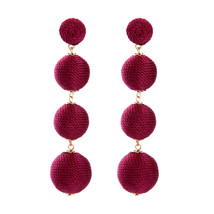 The Cats Pajama Marsala Red Ball Drop Statement Earrings - $48.00