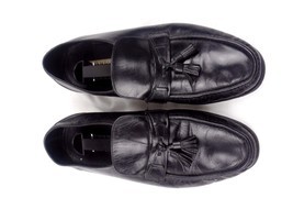 12 D Size Loafers Tassels Penny Florsheim Leather Black Shoes Mens qvwtxR