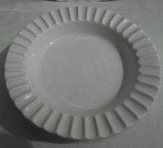 "4 Sheffield Bone White Swirl Ashtrays Condiment Bowl Usa Ironstone 5 3/8"" Rare - $33.65"
