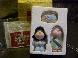 Hallmark Peanuts Gallery The Holy Family Figurine Charlie, Lucy & Baby W... - $49.49