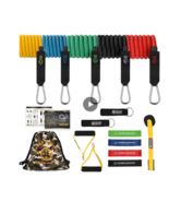 Resistance Bands 16 Set  Sporting Goods Fitness Running Yoga Pilates Hom... - $82.00