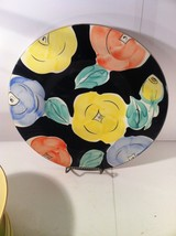 PIER 1---SERVING PLATTER--ITALY--ABSTRACT--FLORAL----SHIPS FREE---VGC - $44.93