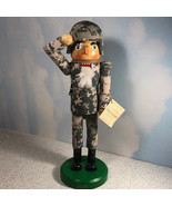 CHRISTMAS NUTCRACKER WOOD STATUE military limited edition salute binocul... - $49.45