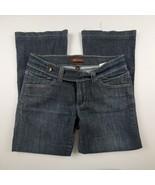 Lee Womens Jeans Sz 10 Flare Leg Mid Rise Dark Wash Denim Trouser Pants  - $24.12