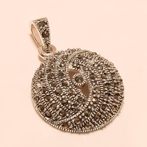 Fashion Women Ladies Elegant Wedding Sterling Silver Marcasite Pendant J... - $23.60
