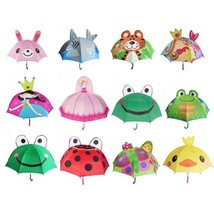 Children Umbrella Creative Long Handled 3d Ear For Boys Girls Sun And Ra... - $24.50