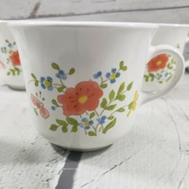 Vintage Mugs Corelle By Corning Made In USA Wild Flowers Floral Lot Of 4 Cups - $49.49