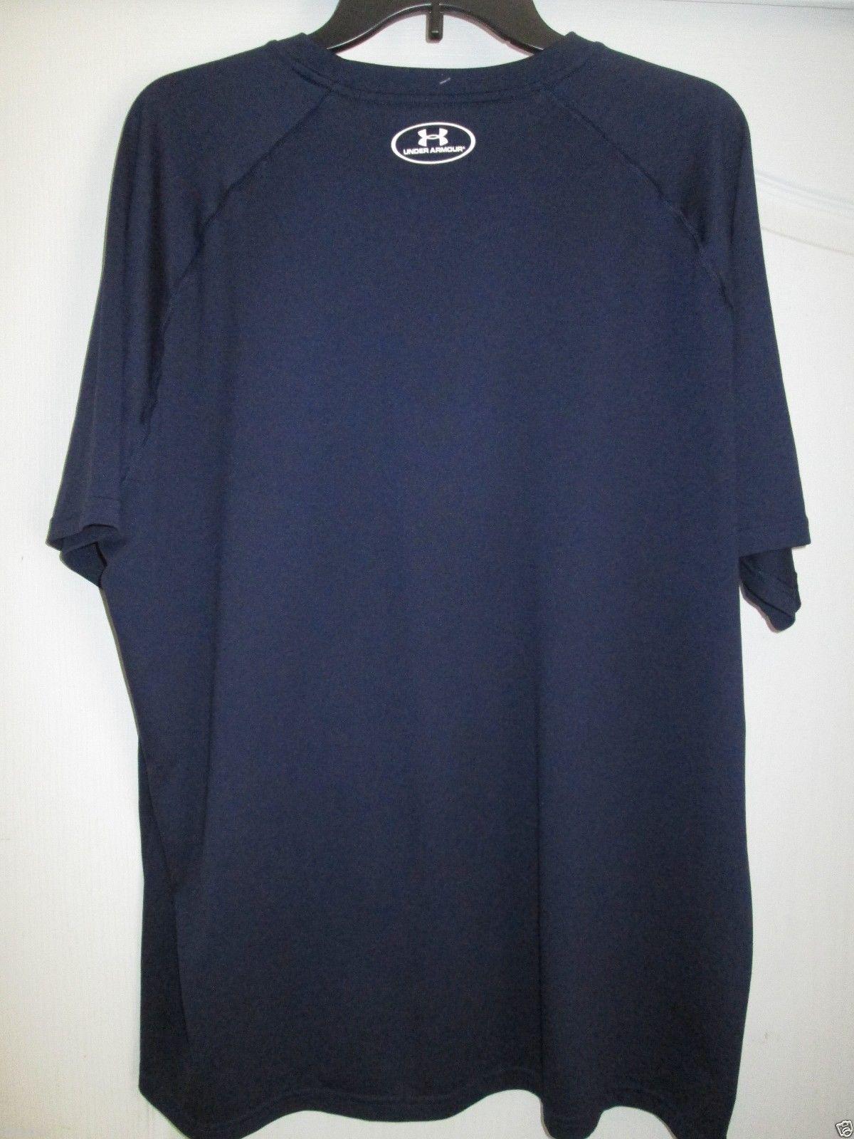 c6bf227e9c4502 Under Armour Heatgear 1228539 Crewneck Short Sleeve Men s T-Shirt Navy 2XL