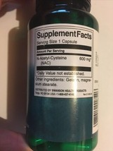 N-ACETYL-CYSTEINE NAC - 600mg - 100 Capsules - Powerful antioxidant amino acid - $12.86