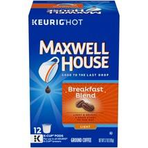 Maxwell House Breakfast Blend K-CUP Pods ,12 count (Pack of 6) 12 - $52.49