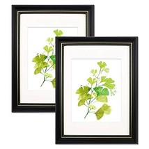 Trees&Forrest 11x14 Picture Frames with 8x10 White Mat Glass Front for W... - $26.09