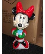 Disney santa's best minnie mouse blow mold yard decor plastic light up - $69.99