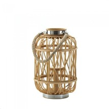 Medium Woven Rattan Candle Lantern - $55.00