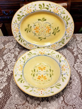 """Floral Oval Serving Platter 18"""" and Serving Bowl 14"""" The Cellar Macy's - €69,12 EUR"""