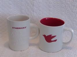 Lot Of 2 Starbucks Ceramic Christmas Coffee Mugs Collectible - $14.96