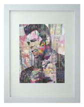 David Bowie Pop Art Print Framed Matted Signed NASA Artist Stephen Chamb... - $84.15