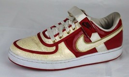 Nike retro 2008 women's shoes varsity red logo accent swoop velcro size 8.5 - $38.78