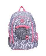 "NEW! Double Dutch Club 18"" Leopard Backpack - Gray Pink Laptop School Tr... - $25.73"