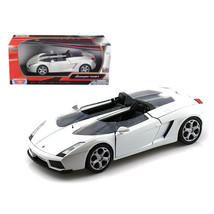 Lamborghini Concept S White 1/24 Diecast Car Model by Motormax 73365w - $29.91