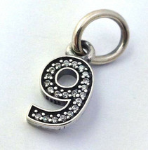 Authentisch Pandora Sterlingsilber Nummer Nine 9 Hängende Charms 791347C... - $31.90