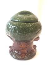 McCoy Keebler Elf Tree House Vintage Glazed Ceramic Cookie Jar Made In USA - $19.79