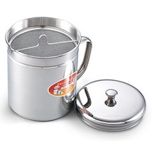 Cook N Home 1.5 Quart Stainless Steel Oil Storage Can Strainer, 6 Cup - $18.70