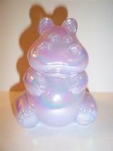 Fenton Glass LAVENDER IRIDIZED CARNIVAL HIPPO Hippopotamus Figurine - $67.42