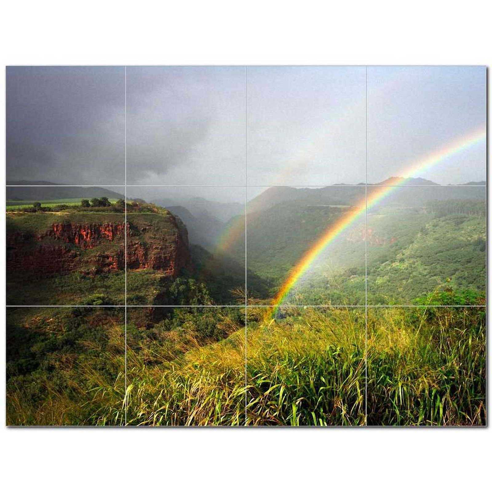 Primary image for Rainbow Photo Ceramic Tile Mural Kitchen Backsplash Bathroom Shower BAZ405693