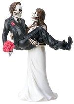 YTC Bride Carrying Groom Skeleton Face Wedding Couple Statue Figurine - $21.36