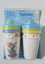 NEW 1999 Precious Moments Luv N Care 4 Pack Child Drink Tumblers Baby Co... - $9.69