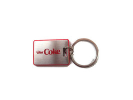Diet Coke Stainless Keychain Key Tag - BRAND NEW - $2.72