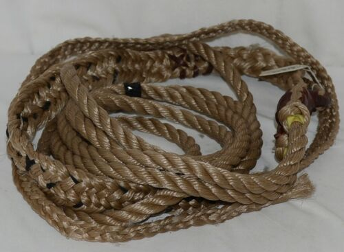 Unbranded Bull Rope Hand Hole Full Lace Braided Leather