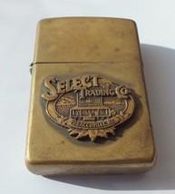 VTG 1994 Zippo Lighter Brass Select Trading Co. Brass Tobaccoville, NC - $33.25