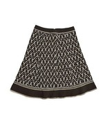 ANN TAYLOR Brown Embroidered Tapestry A Line Hippie Festival Skirt 0 Wai... - $9.89