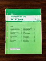 Sony TC-FX500R Cassette Troubleshooting Manual *Original* - $13.97