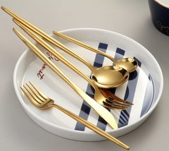 Beautiful Golden Cutlery Set Contemporary Style - $19.90
