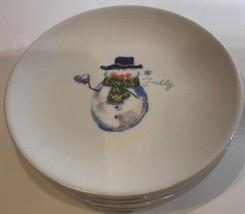 Pier 1 Imports Set of 3 Earthenware Holiday Appetizer/Snack Plates - £14.38 GBP