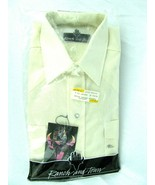 Ranch and Town Western Pearl Snap Shirt Beige NOS 15 1/2 - 34 - $29.65