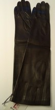 Ladies {Grandoe,100%SILK Lined} Leather Opera Gloves*,Brown,Medium - $125.93