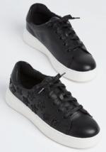 Neu Paar Rue21 Wild Diva Lounge Schwarz Glitzer Star Sneaker Sportschuhe 8.5 US