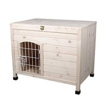 LINLUX Indoor Wooden Dog House with Wire Door, Foldable Kennel with Opening - $180.65