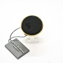 Ring Antica Murrina Venezia with Disc with Murano Glass Black Golden AN204A14 image 2