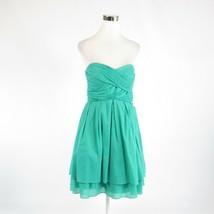 Mint green 100% cotton JESSICA SIMPSON strapless empire waist dress 12 - $29.99